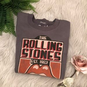 🤟🏽GREY ROLLING STONES SWEATER